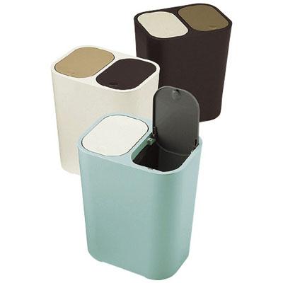 省スペース!フタ付き2分別のかわいい北欧風ゴミ箱