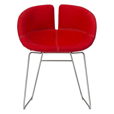 moroso FJORD Armchair stainless base